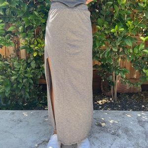 American Eagle Striped Maxi Skirt with Slit
